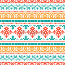 Naklejki Traditional knitted background