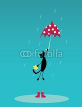 Fototapety Cat with umbrella