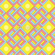 Naklejki Abstract Optical Illusion Pattern in Japanese Style