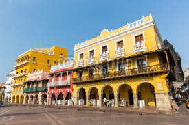 Fototapety Square of carriages downtown Cartagena, Colombia