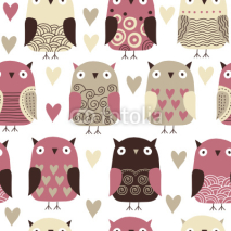 Naklejki seamless pattern with owl