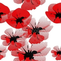 Naklejki floral seamless pattern with poppy