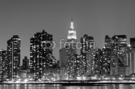 Obrazy i plakaty New York City at Night Lights, Midtown Manhattan