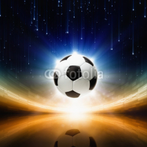 Fototapety Soccer ball, bright light