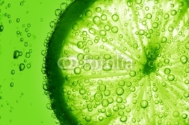 Fototapety lime slice in water