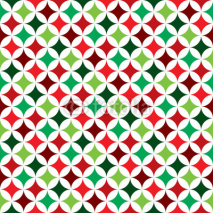 Naklejki Vector seamless pattern illustration on a Christmas Holiday theme on white background.