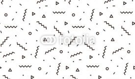 Geometric pattern with zigzags. Black and white background for the cover of the Memphis style or background