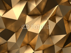 Naklejki Gold Abstract 3D-Render Background