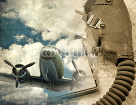 Fototapety Retro aviation background