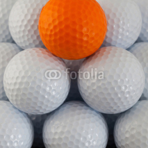 Fototapety Pyramid of golf balls