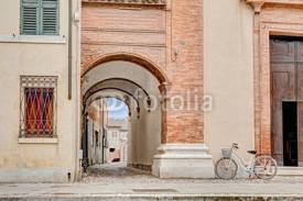 Naklejki archway in Comacchio, Italy