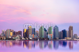 Obrazy i plakaty Lovely San Diego skyline at sunset