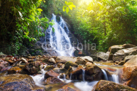 Obrazy i plakaty Beautiful Sai Rung waterfall in Thailand