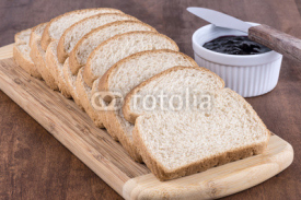 Naklejki Sliced wheat bread