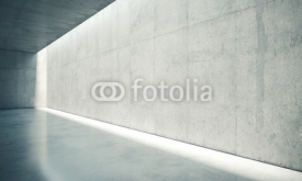 Obrazy i plakaty Blank space interior wall with white lights . 3d render
