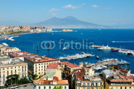 Naklejki wonderful Naples panoramic view with Vesuvius