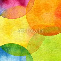 Naklejki Abstract watercolor circle painted background