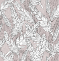 Obrazy i plakaty Abstract feathers pattern. Seamless pattern.