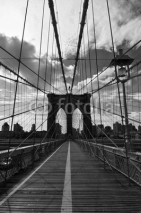 Naklejki Pont de Brooklyn noir et blanc - New-York