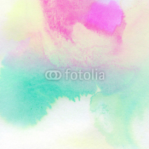 Naklejki Abstract colorful watercolor painted background