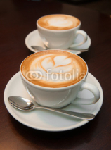 Fototapety two cappuccino cups