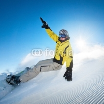 Naklejki Freeride snowboarding photo