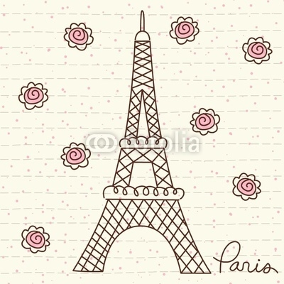 Vector Cute Paris