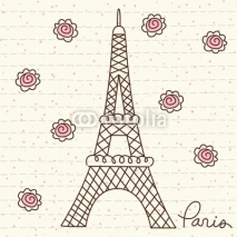 Fototapety Vector Cute Paris
