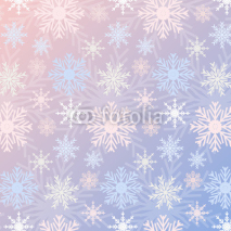 Snowflake seamless pattern gradient Rose Quartz and Serenity colored vintage background. Can be used for New Year and Christmas concepts. Snowfall elements, banners, greeting cards. swatches included.