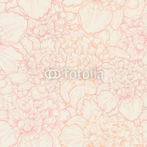 Naklejki Seamless pattern of peonies