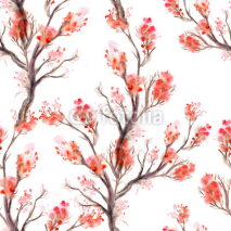 Fototapety Watercolor seamless pattern.