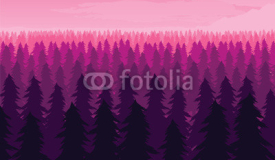 Background of landscape with deep fir forest.