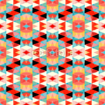 Fototapety small colored polygons seamless geometric pattern