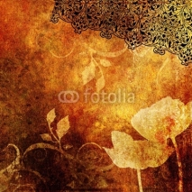 Obrazy i plakaty decorative  floral background in grunge style