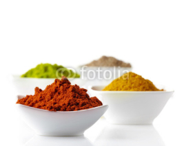 Naklejki spices on a white background