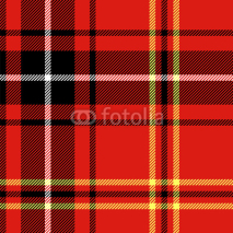Fototapety Red tartan traditional british fabric seamless pattern, vector