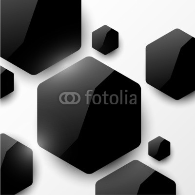 Vector geometric glossy background