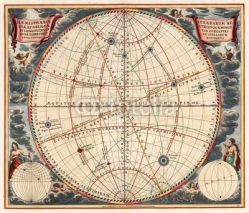 Fototapety Astronomical chart vintage