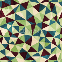 Fototapety vintage triangle seamless pattern with grunge effect