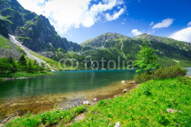 Naklejki Eye of the Sea lake in Tatra mountains, Poland