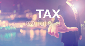 Fototapety Tax concept with businessman