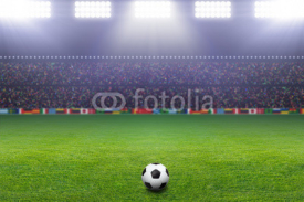 Fototapety Soccer ball, stadium, light