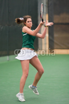 Obrazy i plakaty Female Tennis Player Finishes Forehand Follow Through