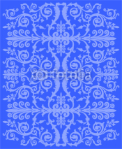 Obrazy i plakaty blue curled decoration illustration