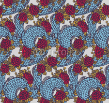 Fototapety Seamless chinese dragon texture