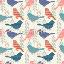 Fototapety Birds seamless pattern