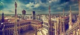 Fototapety Milan, Italy. City panorama. View on Royal Palace