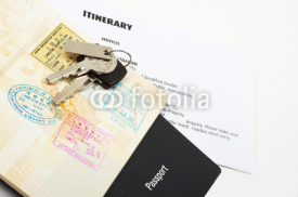 Obrazy i plakaty travel documents and passport