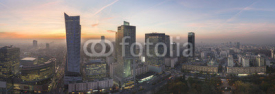 Obrazy i plakaty Panorama of Warsaw city during sundown
