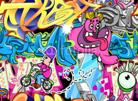 Obrazy i plakaty Graffiti Urban Art Vector Background
